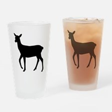 Black deer Drinking Glass