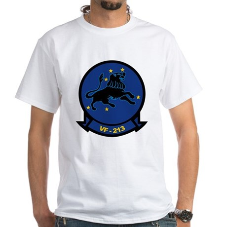 F-14 Tomcat VF-213 Black Lion White T-Shirt