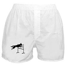 Dog agility sports Boxer Shorts