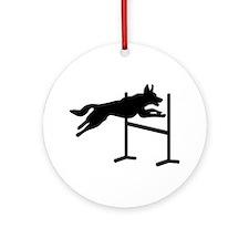 Dog agility sports Ornament (Round)