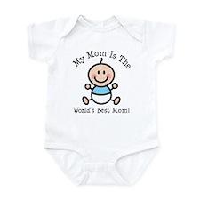 Baby Boy Stick Figure Best Mom Infant Bodysuit