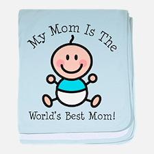 Baby Boy Stick Figure Best Mom baby blanket