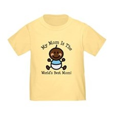 Baby Boy Stick Figure Best Mom T