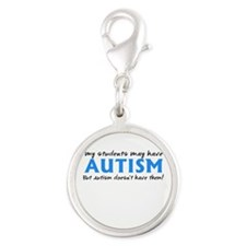My students may have Autism Silver Round Charm