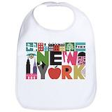 New york city Cotton Bibs