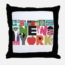 Unique New York - Block by Block Throw Pillow