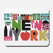 Unique New York - Block by Block Mousepad