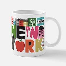 Unique New York - Block by Block Small Small Mug