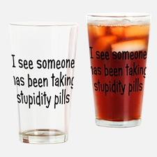 Stupidity Pills Drinking Glass