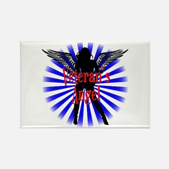 Veteran's Angel Rectangle Magnet