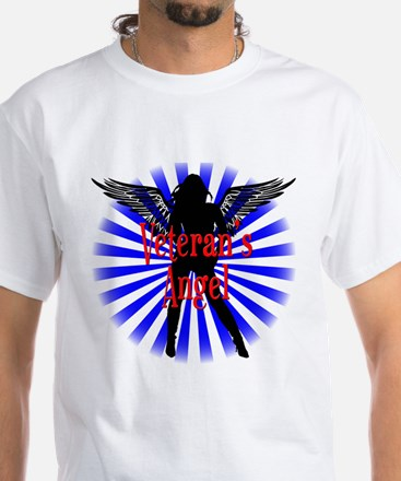 Veteran's Angel White T-Shirt