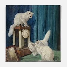 Clock Watchers Tile Coaster