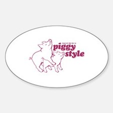 Year of The Pig 2007 Oval Decal