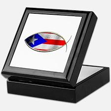 Ichthus - Puerto Rican Flag Keepsake Box