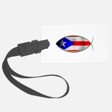 Ichthus - Puerto Rican Flag Luggage Tag