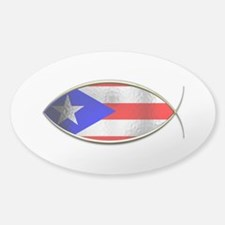 Ichthus - Puerto Rican Flag Decal