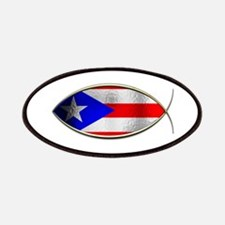 Ichthus - Puerto Rican Flag Patches