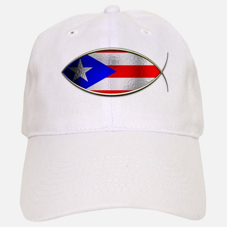 Ichthus - Puerto Rican Flag Baseball Baseball Cap