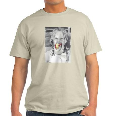 Girl eating apple T-Shirt