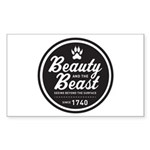 Beauty and the Beast Since 1740 Sticker (Rectangle