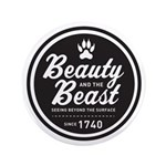 """Beauty and the Beast Since 1740 3.5"""" Button"""
