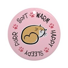 Soft Kitty Ornament (Round)