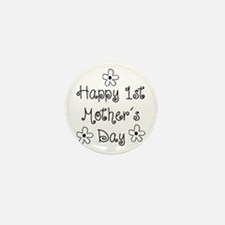 1st Mother's Day Mini Button (100 pack)