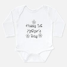 1st Mother's Day Long Sleeve Infant Bodysuit