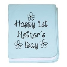 1st Mother's Day baby blanket