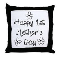 1st Mother's Day Throw Pillow