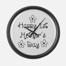 1st Mother's Day Large Wall Clock