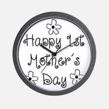 1st Mother's Day Wall Clock