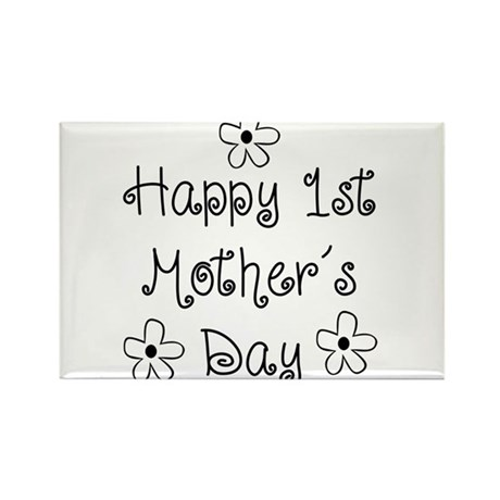 1st Mother's Day Rectangle Magnet (100 pack)