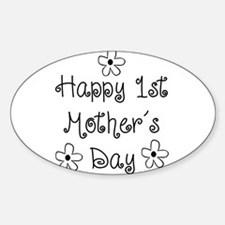 1st Mother's Day Sticker (Oval)