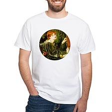 Pre-Raphaelite Lady in Green T-Shirt