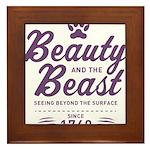 Beauty and the Beast Since 1740 Framed Tile