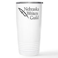Nebraska Writers Guild, Updated logo Travel Mug