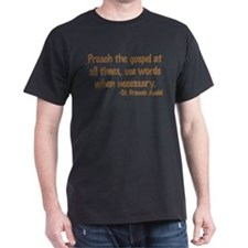 PreachTheGospelWordsBrownText1.png T-Shirt