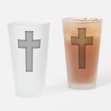 Silver Cross Drinking Glass