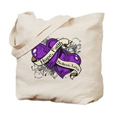 Lupus Hope Dual Heart Tote Bag
