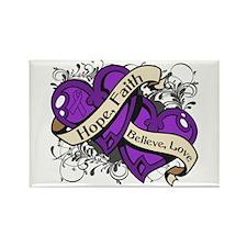 Lupus Hope Dual Heart Rectangle Magnet