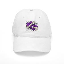 Lupus Hope Dual Heart Baseball Cap