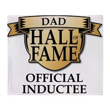 Dad Hall of Fame Throw Blanket