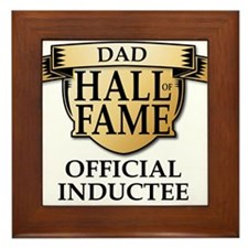 Dad Hall of Fame Framed Tile