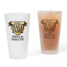 Dad Hall of Fame Drinking Glass