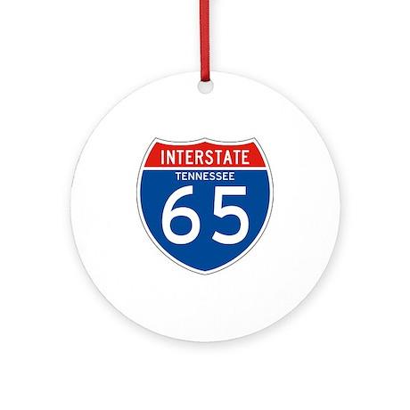Interstate 65 - TN Ornament (Round)