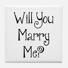 Will You Marry Me? (2) Tile Coaster