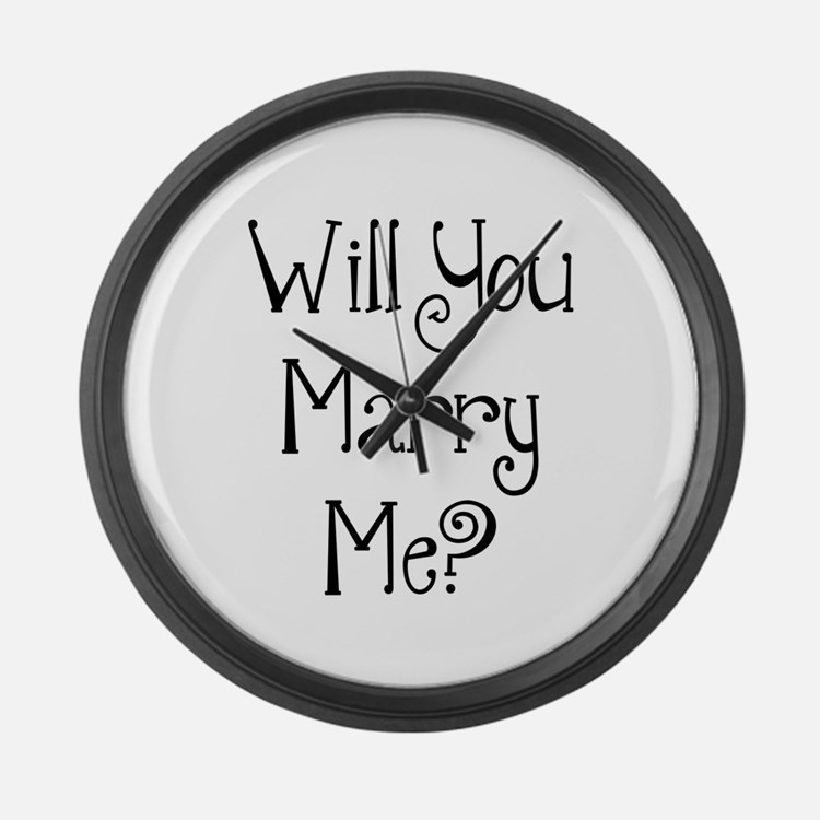 Will You Marry Me? (2) Large Wall Clock