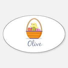 Easter Basket Olive Decal