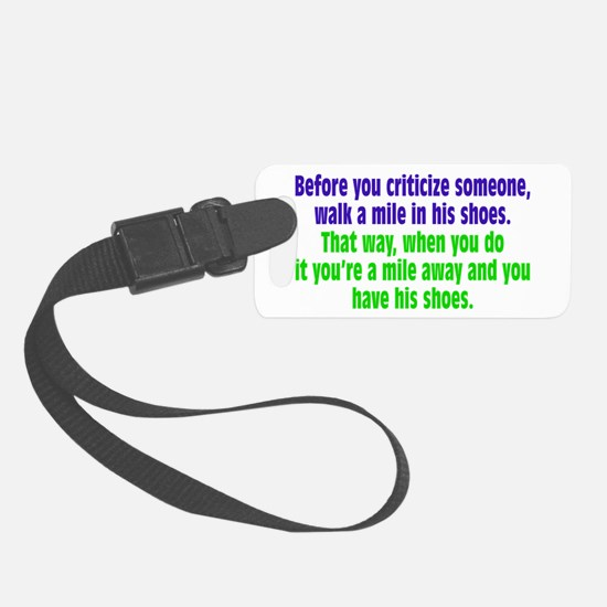 A Mile In Their Shoes Luggage Tag